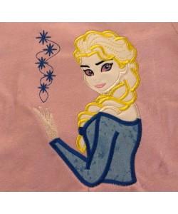 Elsa Frozen applique design
