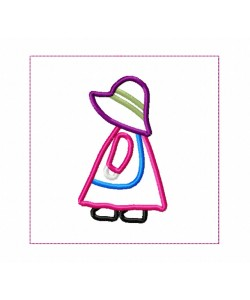 Sunbonnet Sue Quilt Block Embroidery in the hoop