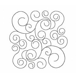 Swirls pattern Quilt Block Embroidery