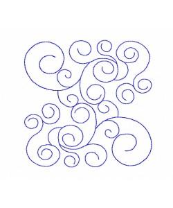 Swirls pattern v2 Quilt Block Embroidery