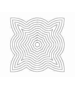 Seranta pattern Quilt Block Embroidery