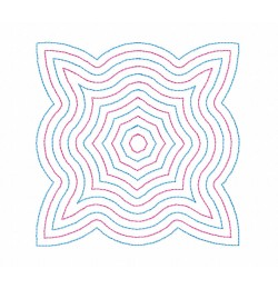 Seranta Colors pattern Quilt Block Embroidery