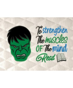 Hulk face applique with to strengthen