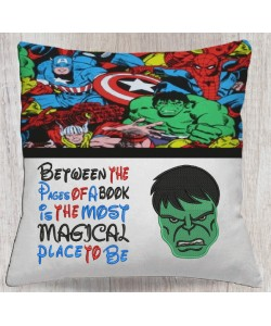 Hulk face embroidery with Between the Pages