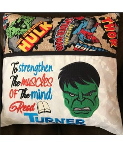 Hulk face embroidery with to strengthen