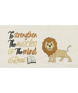 Lion embroidery with To strengthen