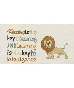 Lion embroidery with Reading is the key