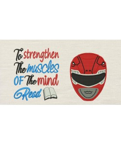 Power Ranger Embroidery with To strengthen