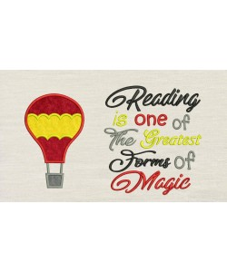 Air Balloon with Reading is one