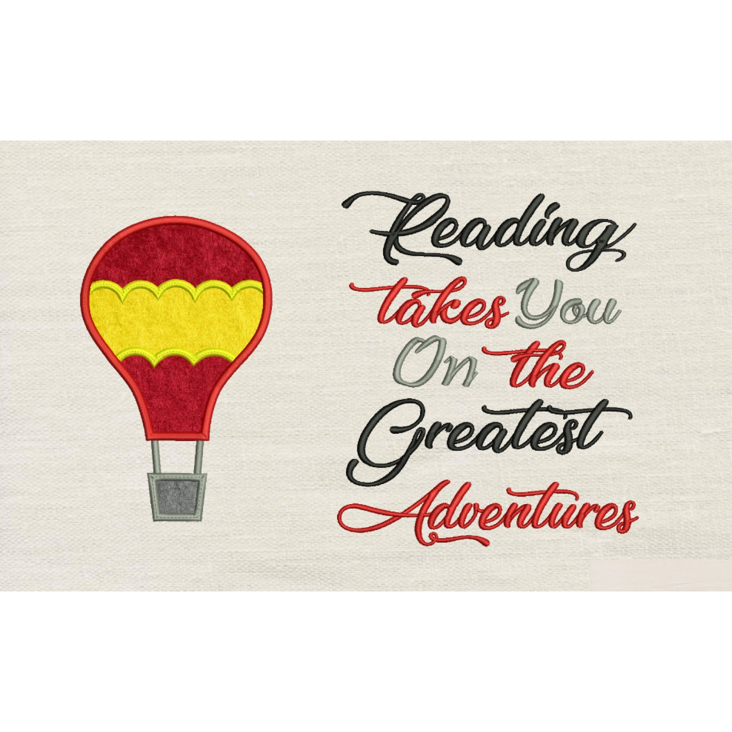 Air Balloon with reading takes you