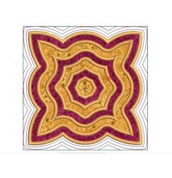 Seranta applique quilt block Embroidery in the hoop