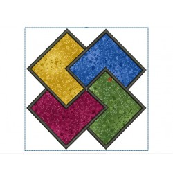 Quartet quilt block Embroidery in the hoop