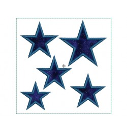 Stars Applique Quilt Block Embroidery