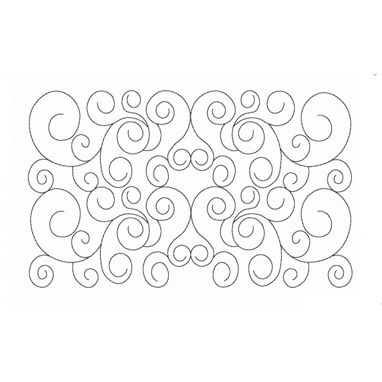 Swirls pattern pocket reading pillow