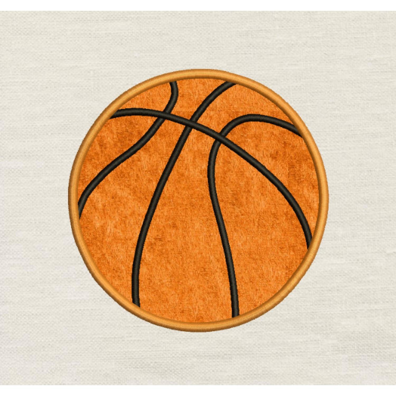 Basketball applique design