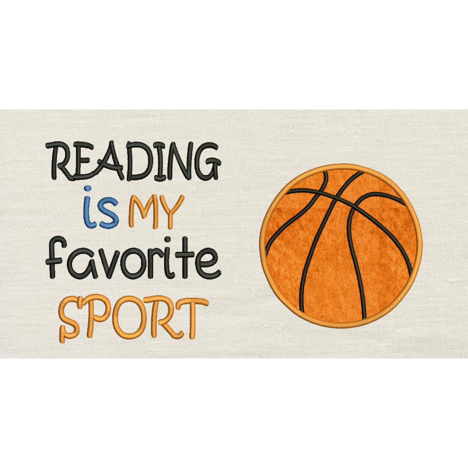 Basketball with reading is my favorite sport Designs