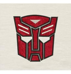Autobots face Design Machine Embroidery