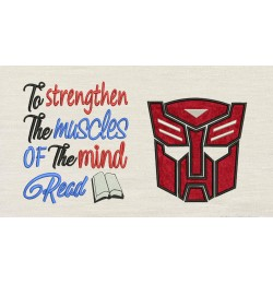 Autobots face with to strengthen Embroidery