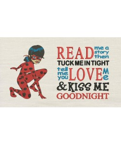 Miraculous with read me a story Embroidery