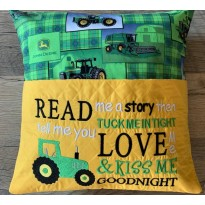 Read me a story tractor embroidery
