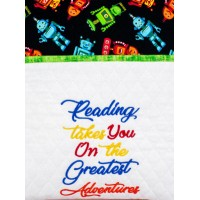 Reading takes you Machine Embroidery Design