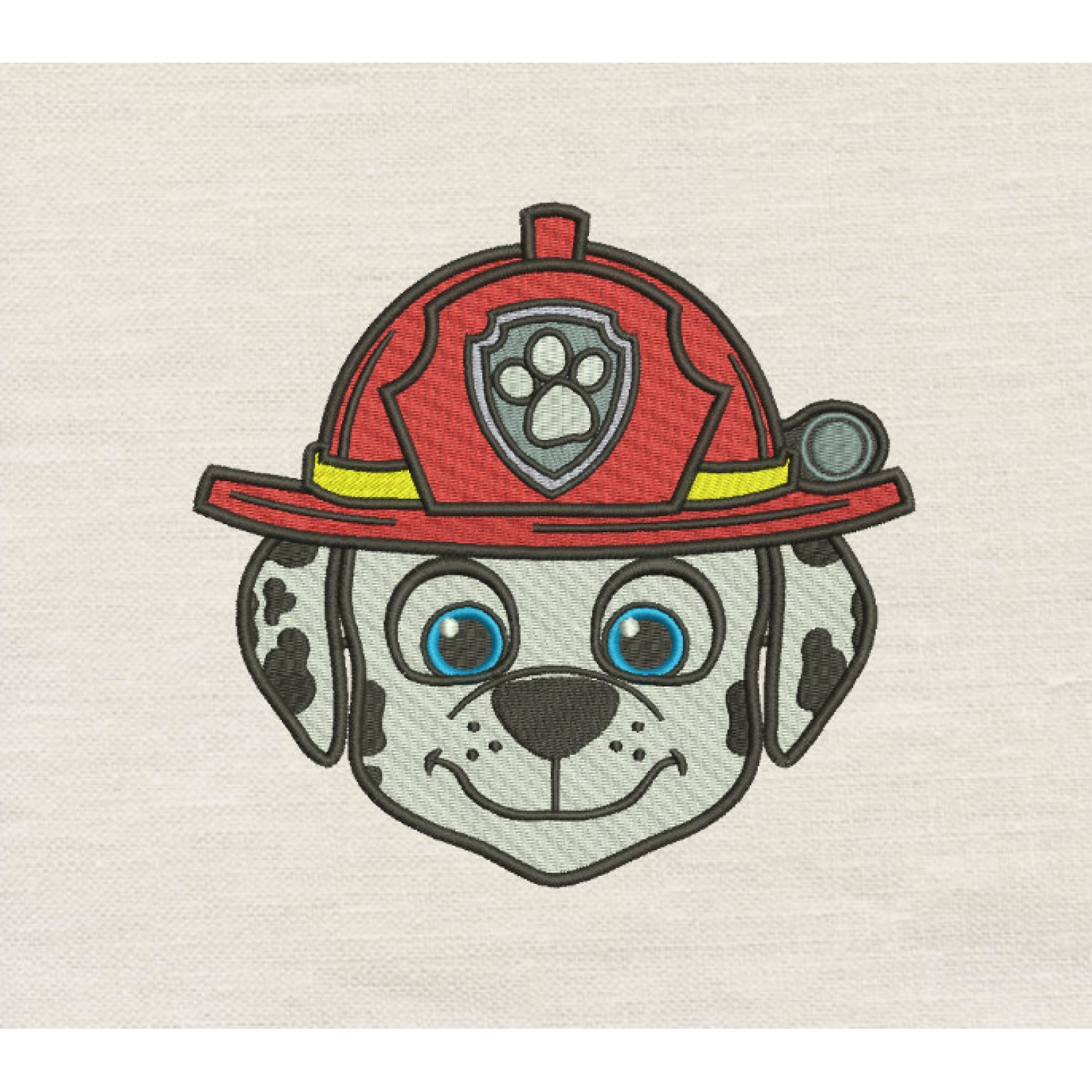 Marshall face Paw Patrol Embroidery