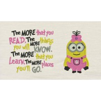 Lola minion embroidery with the more that you read