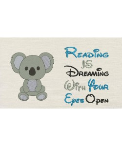 Koala with reading is dreaming