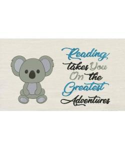 Koala with reading takes you