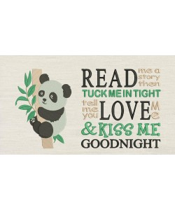 Panda with Read me a story