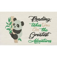 Panda with reading takes you