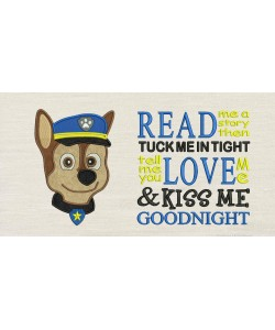 Paw Patrol Chase Face with Read me a story