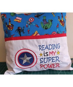 Captain america with reading is my super power Designs