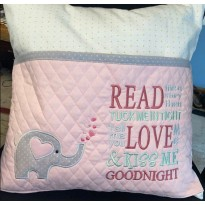 Elephant Hearts with read me a story Machine Embroidery