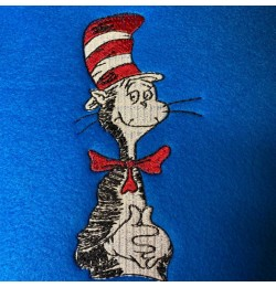The cat in the hat Machine Embroidery