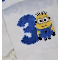 Bob minion birthday number 3 design