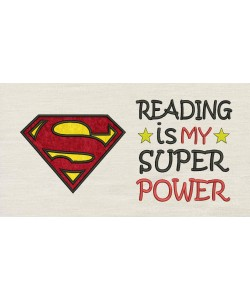 Superman logo with Reading is My Superpower