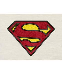 Superman logo applique Design