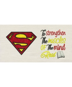 Superman logo with To strengthen