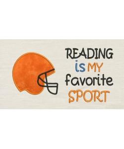 Football Helmet with Reading is my favorite sport