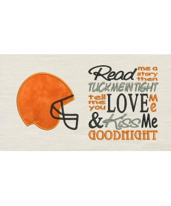 Football Helmet with Read me a story Embroidery