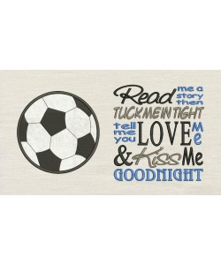 Football Football with Read me a story Embroidery