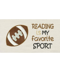 Football with Reading is my favorite sport