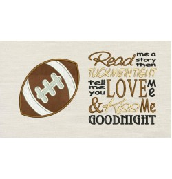 Football with Read me a story Embroidery