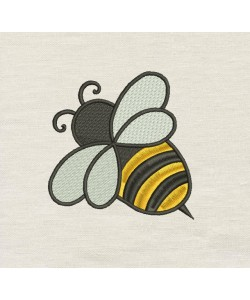 Bee Embroidery Design