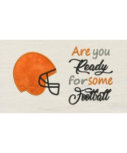 Football Helmet with Are You Ready