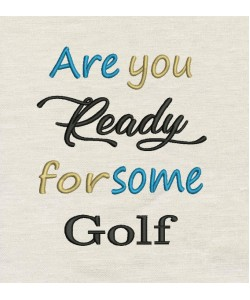 Are You golf Embroidery