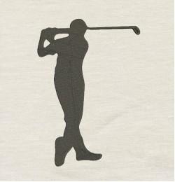 Golf Design Machine Embroidery