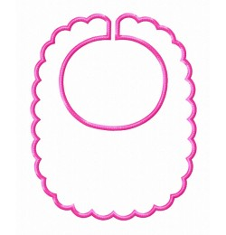 Baby bibs doce in the hoop embroidery