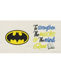 Batman logo with To strengthen